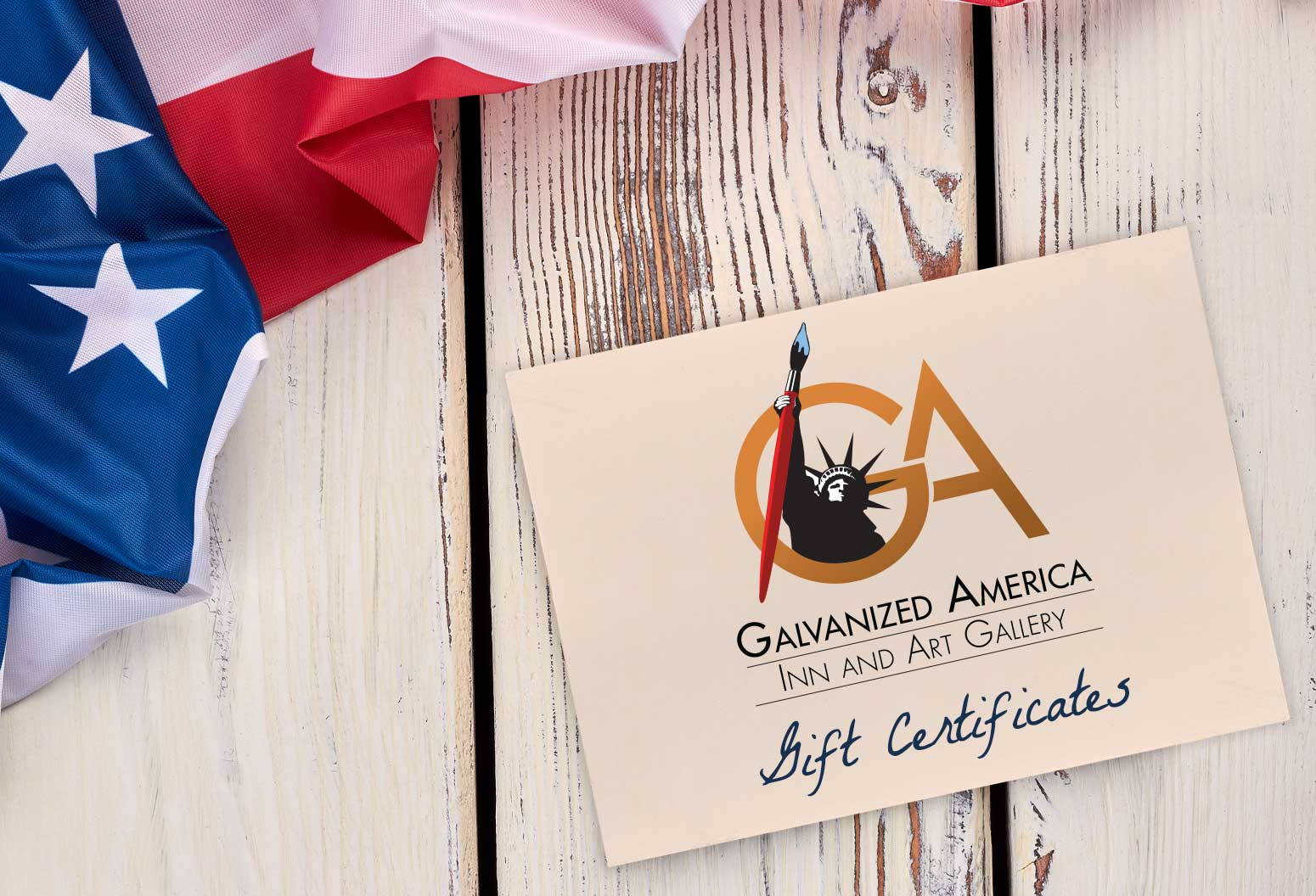 Galvanized America Inn and Art Gallery Gift Certificates